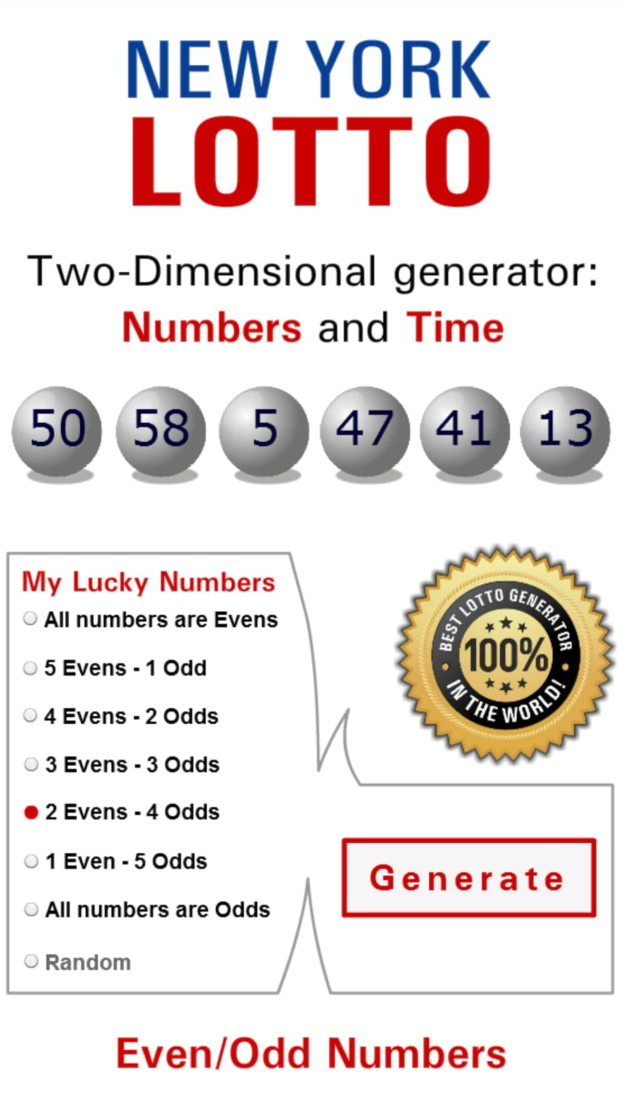 Lottery lotto games